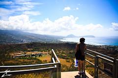 Stop above the Crater (MjZ Photography) Tags: ocean blue sky cloud beach water clouds hawaii honeymoon waikiki oahu bluesky diamondhead honolulu diamondheadcrater diamondheadstatemonument