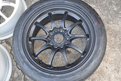 DSC_0358 (Blazedd) Tags: black color flat wheels racing 45 16 rays custom rims 42 matte jdm volk 215 blk blazed hankook ce28n ce28 16x7 blazedd 2154516