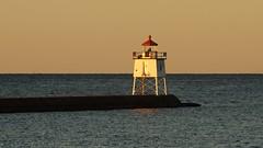 Sunrise at Two Harbors (rexp2) Tags: lighthouse sunrise greatlakes lakesuperior sonynex5n leicaleitztelyt200mmf4520cm vacation2013fall