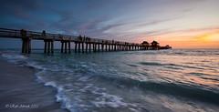 Naples Pier v3 (Rafe Abrook Photography) Tags: ocean sunset sea usa beach landscape pier seaside waves florida jetty everglades naples gulfcoast naplespier