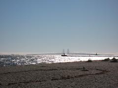resund (goblin2601) Tags: bridge light beach water strand licht wasser brcke kopenhagen canonpowershot oeresund flickrandroidapp:filter=none