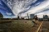 Daredevil (Wameq R) Tags: blue sky cloud sun water speed canon river boat rotterdam streak sunny devil 5d dare 1740mm hdr daredevil erasmusbrug hdri erasmusbridge photomatix skaboard 5dmarkiii 5dm3 blinkagain hdrefex 5dmiii