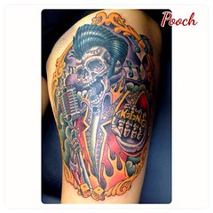 #deadelvis #rockabilly #rockabillytattoo #elvisskeleton