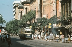 Calcutta 80 Hare Street 1980 (Guy Arab UF) Tags: street india public set hare transport tram company 80 kolkata calcutta 4wheel tramways coupled