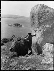 Granite Island, Victor Harbor (State Records SA) Tags: blackandwhite photography australia historical southaustralia frankhurley srsa staterecords staterecordsofsouthaustralia staterecordsofsa