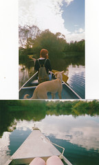 (Jess'ka) Tags: camping camp film nature river fire canoe smores redhair