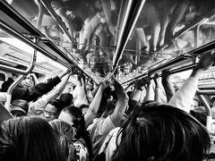 People. Lots of them... (Diego3336) Tags: cameraphone brazil people urban bw latinamerica southamerica brasil train subway saopaulo metro crowd pb sp metropolis alstom trem 226 a96 lotado overcrowded metrosp overcrowd frotag lumia920