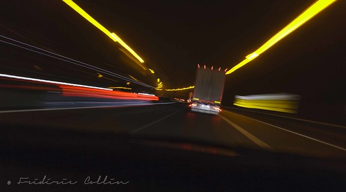 Fast and furious - Light trails on the highway