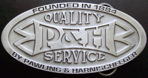 P&H HARNISCHFEGER BELT BUCKLE