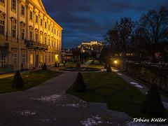 Schloss Mirabell bei Nacht (Tobias Keller) Tags: night austria licht österreich nacht beleuchtung nachtaufnahme ilumination festung blauestunde hohensalzburg landsalzburg schlossmirabell