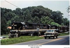 SOU 5109, 5112 & 1 more (Robert W. Thomson) Tags: railroad train diesel northcarolina railway trains southern locomotive trainengine sr sou geep sylva emd gp382 gp38 gp30 fouraxle