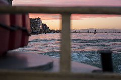 IMG_2830 (SamSeguso) Tags: venice light sunset italy mountains water boat waves lagoon dreams venise battello bricole onboat sunsetinvenice