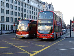 Go Ahead London Central Volvo B9TL Wright & foreign Mercedes coach at Blackfriars Station (Mark Bowerbank) Tags: london ahead station mercedes volvo coach go central blackfriars wright foreign b9tl