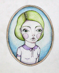 Green Haired Girl (kitten_limbs) Tags: art girl illustration pencil sketch drawing girly cartoon sketching doodle illustrator colourful draw colourpencil doodling fabercastell leadpencil feminim