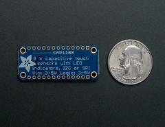 CAP1188 - 8-Key Capacitive Touch Sensor Breakout - I2C or SPI (adafruit) Tags: parts touch sensors 1602 adafruit