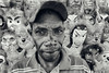 Masks (Giovanni Savino Photography) Tags: street portrait blackandwhite man face dominican dominicanrepublic streetphotography streetportrait masks magneticart ©giovannisavino