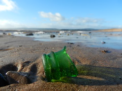 Another Green Bottle... (BAKAEDAR) Tags: bokeh glass bottle bottleneck green beach smileonsaturday