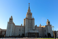 MGU state University (Stefano081) Tags: street blue sky art history beautiful canon view moscow dlsr