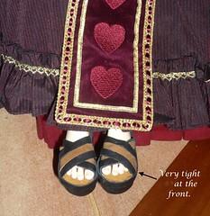 Dollshe shoe 002S for Dollshe Ausley Love -special order (Kim Zentner) Tags: pink shoes doll handmade grapefruit kaye wiggs pinkgrapefruit dollshoes dollstown dollshe iplehouse kayewiggs