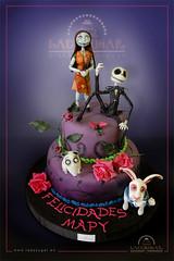 Tarta Tim Burton (LadySugar Diseo en Azcar) Tags: cake alicante tarta timburton aliceinwonderland fondant thenightmarebeforechristmas pesadillaantesdenavidad cakedecorating frankenweenie aliciaenelpaisdelasmaravillas ladysugar tartasdediseo
