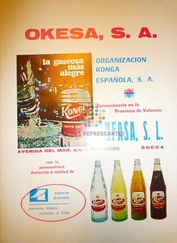 """Konga. """"La gaseosa más alegre"""". Años 60"""