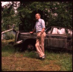 Uncle Lars (khybinette) Tags: portrait car mercedes sweden uncle hasselblad 501 160nc