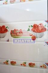 Gạch ốp tường nhà bếp táo đỏ