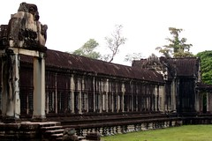 Right Wing of Angkor Wat's Outer Wall (Patumraat) Tags: world old travel holiday building tourism architecture wonder thailand temple ancient cambodia vishnu god religion ruin culture buddhism siem classical civilization wat hindu asean reise reab