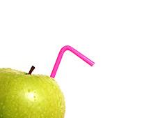 apple juice (brescia, italy) (bloodybee) Tags: pink stilllife food white green apple water fruit droplets drops drink juice straw minimal explore eat highkey minimalism stalk 365project