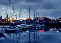 Hartlepool Blue Light (Tony Worrall) Tags: county uk england wet water beauty docks boats lights evening nice marine place photos harbour dusk ships  scenic visit scene images location tony serene lit bluelight 2014 worrall photosofhartlepool 2014tonyworrall