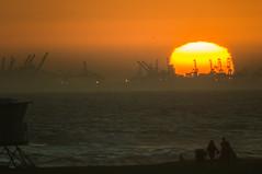 Sunset over Long Beach (tom@f) Tags: california ca sunset usa nature landscape us unitedstates sony unitedstatesofamerica tokina telephoto socal longbeach f8 telephotolens 400mm nex kenko mirrorlens apsc emount nex5t