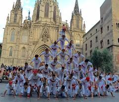 Piramide conjunta amb Falcons de Barcelona