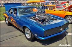Camaro Hot Rod (Photos By Vic) Tags: old blue classic chevrolet car vintage automobile antique camaro chevy hotrod vehicle carshow generalmotors 2015charlotteautofair