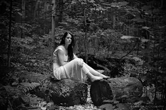 Jeanne, beauty of the forest (Gaetan Cormier) Tags: nature monochrome beauty forest mediumformat woods fuji shanghai pushed agfarodinal gp3 gw690iii fujigw690iii film:iso=400 shanghaigp3100 developer:brand=agfa developer:name=agfarodinal film:brand=shanghai film:name=shanghaigp3100 filmdev:recipe=10248