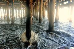 Under the Santa Monica Pier (Joe Lach) Tags: california beach water pier waves santamonica under pacificocean santamonicapier pylons santamonicabay underthesantamonicapier waterpictorial joelach