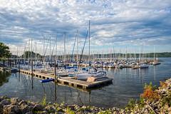 Lake City Marina (Skeeter Photo) Tags: sky reflection water minnesota clouds marina harbor mississippiriver sailboats lakecity mn hdr lightroom lakepepin
