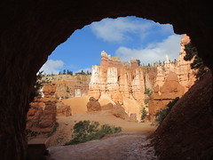 View through tunnel to Queen's Garden area, Bryce Canyon, Utah (Paul McClure DC) Tags: brycecanyon nationalpark march2016 bryceamphitheater scenery geology garfieldcounty