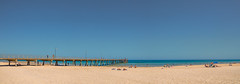 Glenelg Beach (Anthony's Olympus Adventures) Tags: adelaide southaustralia sa australia adl glenelg beach sand water ocean sea sky jetty pier panorama panoramic photo photogenic photography olympusem10 olympus olympusomd summer afternoon gulfstvincent