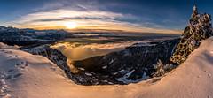 Niederhorn Sunset (PhiiiiiiiL) Tags: beatenberg bern schweiz ch switzerland lake thun niederhorn panorama snow schnee nikon d810