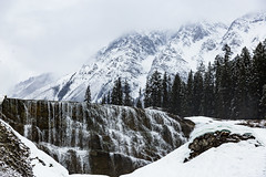 Winter Waterfalls (adamfredphotography) Tags: morainelake banff banffnationalpark lakelouise alberta canada nature hiking mountain waterfalls snowshoe
