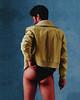 Alien. (Ivan Contreras C.) Tags: portrait retrato man men hombre guy boy model butt trasero nalgas underwear interior calzon nude naked desnudo alien color yellow amarillo red rojo blue azul jacket chamarra
