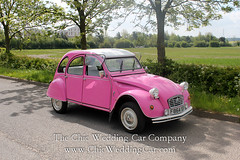 Rosie in the country-9 (magicalnights) Tags: pink wedding car derbyshire 2cv chic weddingcar shabbychicwedding sexyweddingcar 2cvweddingcar derbyweddingcars