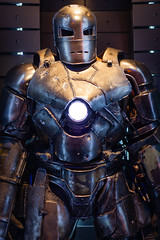 """Tony Stark built this in a cave!"" (theuserjohnny) Tags: disneyland ironman marvel tomorrowland tonystark innoventions marki mark1 hallofarmor starkindustry theuserjohnny"