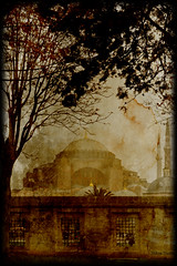 Hagia Sophia - Part 5 (Nikos Niotis) Tags: old tree texture church monument museum architecture turkey paper greek europe cathedral roman istanbul mosque architectural christian dome empire historical christianity ottoman orthodox hagiasophia turkish byzantine greekorthodox easternorthodox easternroman