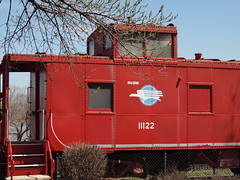 Mo-Pac Missouri Pacific Red Caboose 11122 in Washington, MO_P4133155 (Wampa-One) Tags: red train railway caboose mopac washingtonmissouri amtrakstation missouripacific 11122 redcaboose washingtonmo