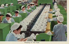 Shaping Tea Cups, Japanese Factory (SwellMap) Tags: industry vintage advertising design flying pc 60s technology fifties satellite postcard suburbia style kitsch science ufo retro nostalgia chrome americana spaceship 50s googie populuxe sixties extraterrestrial saucer babyboomer consumer coldwar midcentury spaceage atomicage