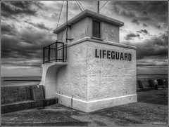 Lifeguard (mobilevirgin) Tags: beach fuji lifeguard hdr wirral newbrighton x10