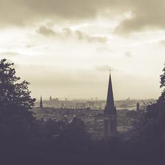 Glasgow Skyline (чãvìnkωhỉtз) Tags: city uk greatbritain blackandwhite bw church skyline square lumix scotland raw cityscape unitedkingdom glasgow 11 steeple panasonic queenspark squareformat gb 2012 lightroom 70mm lx5 exif:iso_speed=80 exif:focal_length=149mm exif:aperture=ƒ30 dmclx5 lightroom4 gavinkwhite geo:lat=55831005555555 geo:lon=4270119444445