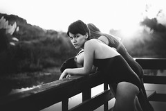 (María Granados) Tags: sunset blackandwhite sun inspiration 50mm teen teenager grayscale f18 sallymann canon60d