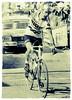 Frenchman Bernard Théˆvenet celebrates a solo stage 15 of the1975 Tour de France